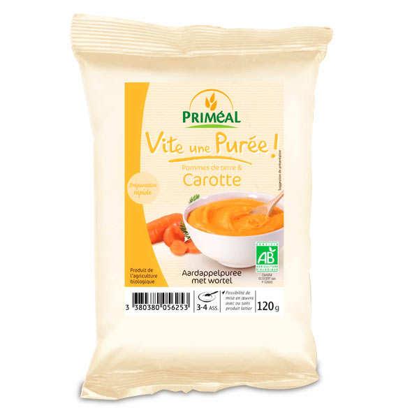 Priméal Purée bio de pomme de terre et carottes - Paquet 120g
