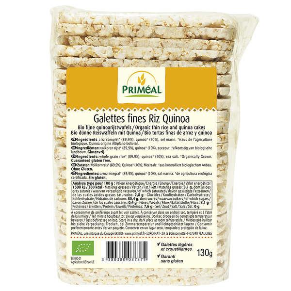 Priméal Galettes fines bio de riz et quinoa - Paquet 130g