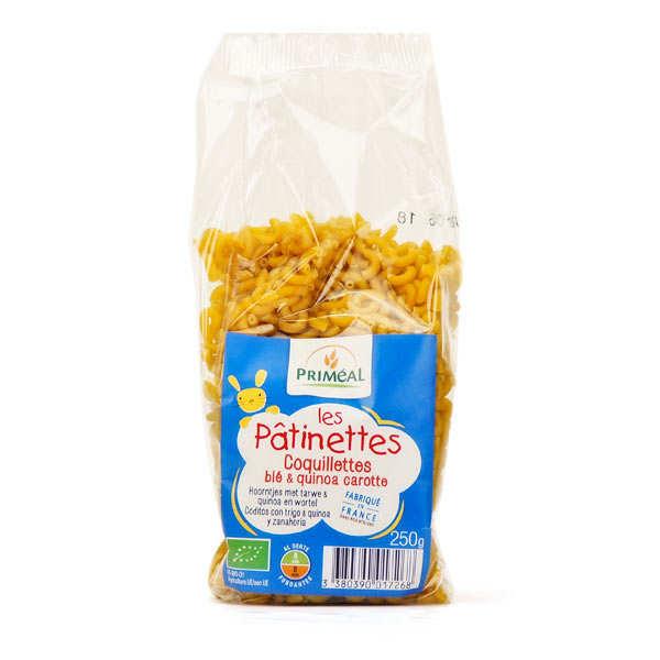 Priméal Les Pâtinettes coquillettes au blé, quinoa et carottes - Pâtes bio - Paquet 250g