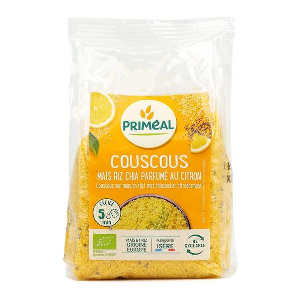 Priméal Couscous bio maïs, chia et riz parfumé au citron - Paquet 300g