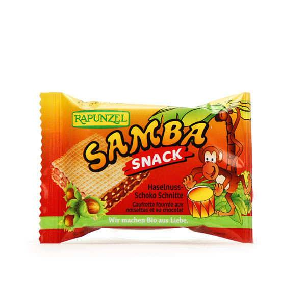 Rapunzel Samba snack bio, gaufrette fourrée à la pâte à tartiner - Barre 25g