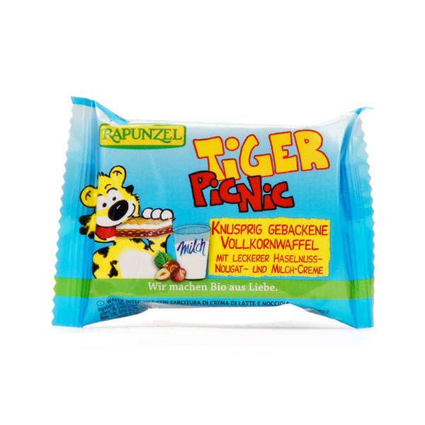 Rapunzel Tiger snack bio, Gaufrette fourrée au chocolat et à la crème de lait - Barre 23g