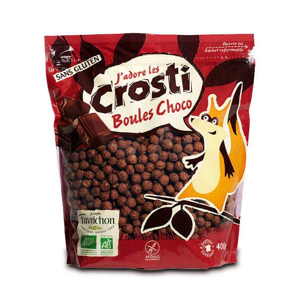 Favrichon Crosti boules choco bio sans gluten - Sachet 400g
