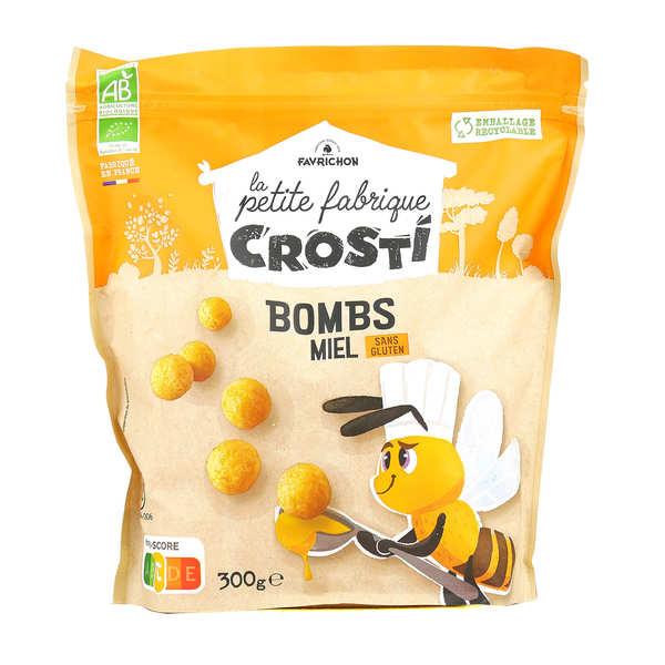 Favrichon Crosti boules miel bio sans gluten - Sachet 400g
