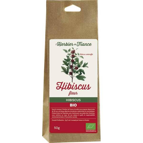 Cook - Herbier de France Fleurs d'hibiscus bio - 2kg (4 sacs de 500g fleurs coupées)