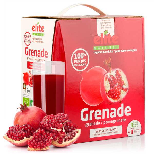 Elitegroup Pur jus de grenade bio en bag in box 3L - 6 x 3L - Cure de 3 mois