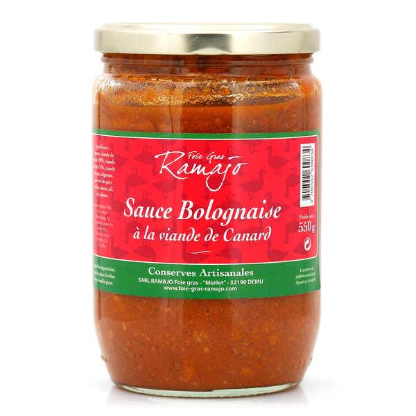 SARL Ramajo Foie Gras Sauce bolognaise à la viande de canard - Bocal 550g