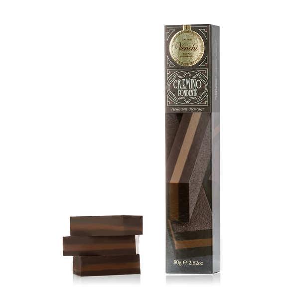 Venchi Barre extra Cremino - triple chocolat noir et Gianduja - Barre 80g