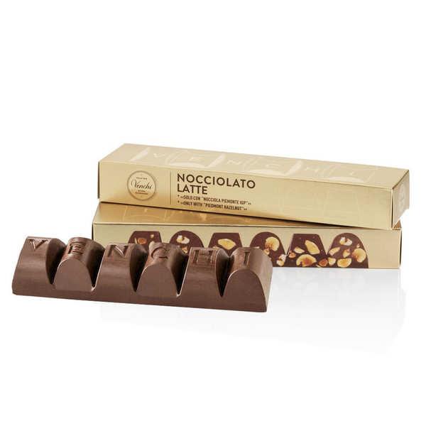 Venchi Mini bloc de chocolat au lait et noisettes du Piémont - 3 mini blocs 170g