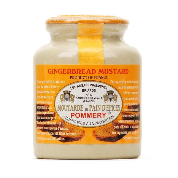 Les assaisonnements Briards Moutarde au pain d'épices Pommery - Pot en grès 250g