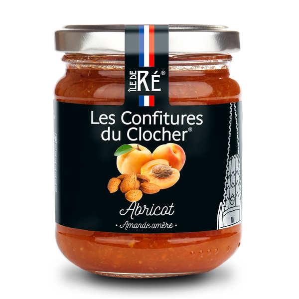 Les Confitures du Clocher Confiture extra d'abricot et amande amère - Lot de 4 pots 240g