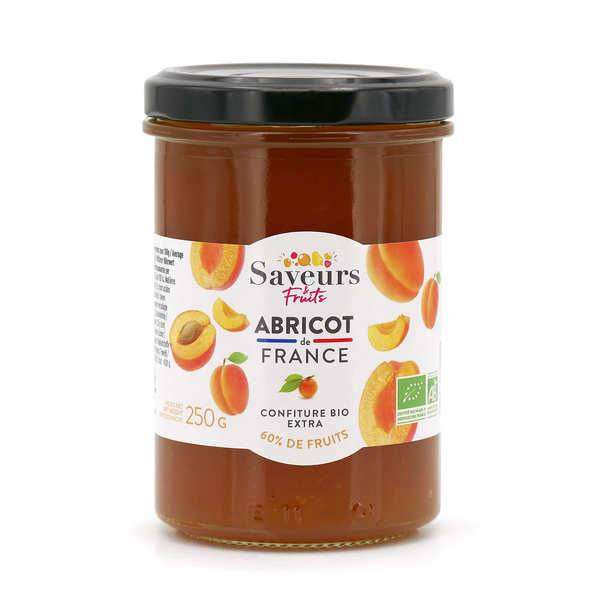 Saveurs Attitudes Confiture extra d'abricot du Roussillon bio - Pot 220g