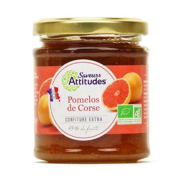 Saveurs Attitudes Confiture extra de pomelo de Corse bio - Pot 220g