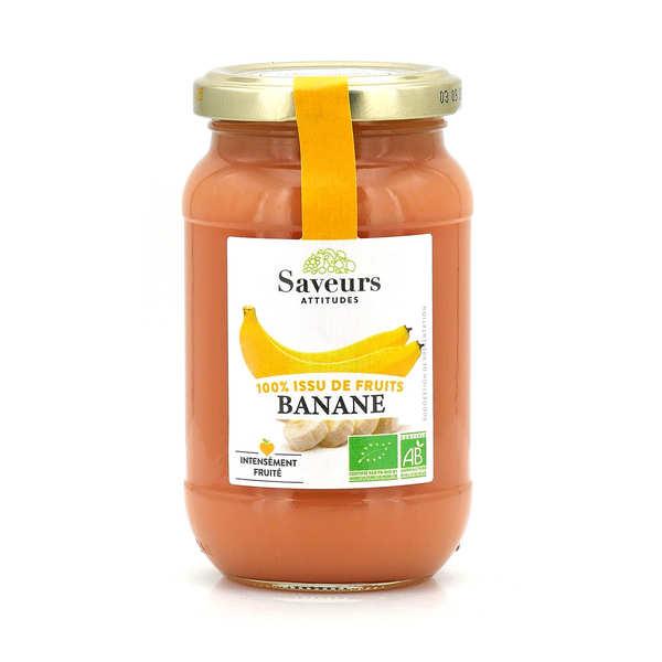 Saveurs et Fruits Confiture de banane bio sans sucre ajouté - Pot 310g