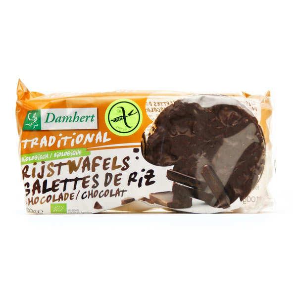 Damhert Galettes de riz au chocolat noir bio sans gluten - Sachet 100g