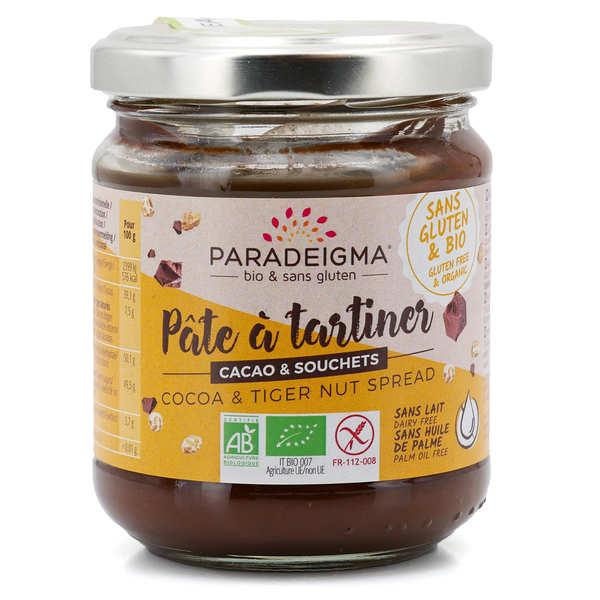 Paradeigma Pâte à tartiner au cacao et au souchet bio sans gluten - Pot 200g