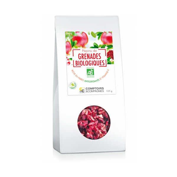 Comptoirs et Compagnies Graines de grenade séchées bio - Paquet 125g