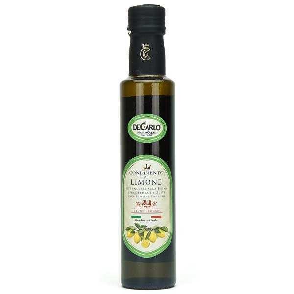 De Carlo Huile d'olive extra vierge au citron frais - Bouteille 25cl