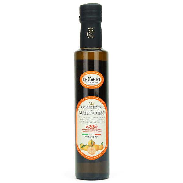 De Carlo Huile d'olive extra vierge à la mandarine fraîche - Bouteille 25cl
