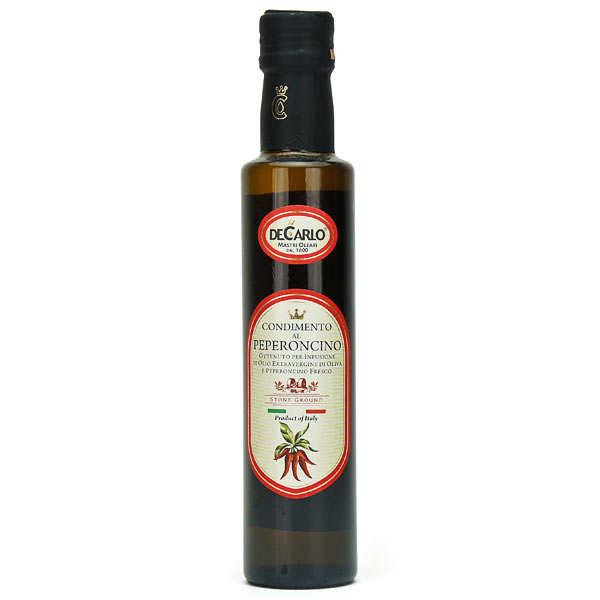 De Carlo Huile d'olive extra vierge au piment - Bouteille 25cl