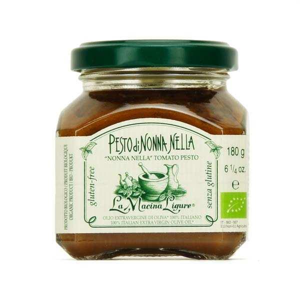 La Macina Ligure Pesto rouge bio aux tomates fraîches de Ligurie - Pot 180g