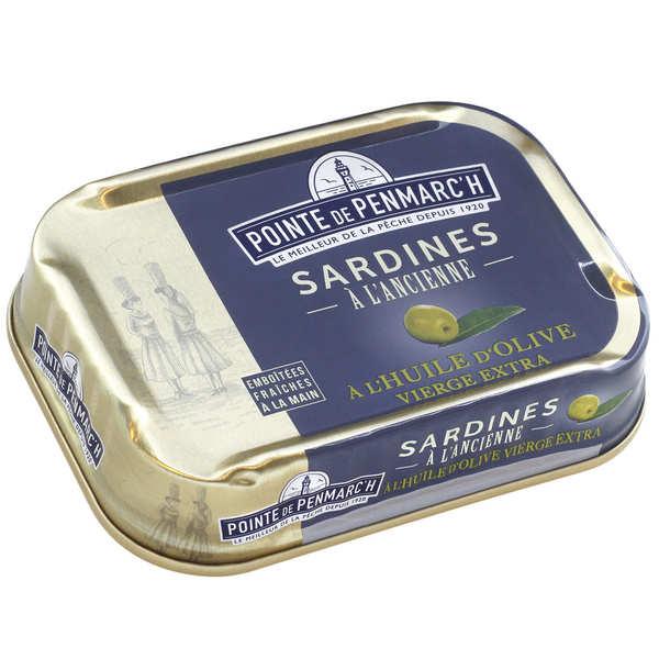La pointe de Penmarc'h Sardines à l'ancienne à l'huile d'olive vierge extra - Boîte 115g