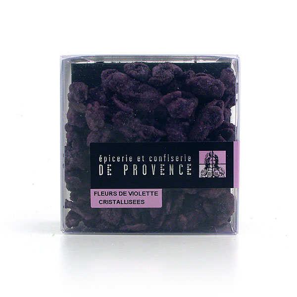 Epicerie de Provence Fleurs de violettes cristallisées - l'étui de 75g