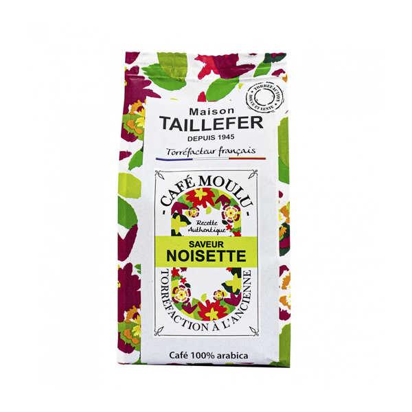 Maison Taillefer Café moka moulu saveur noisette - 3 sachets de 125g