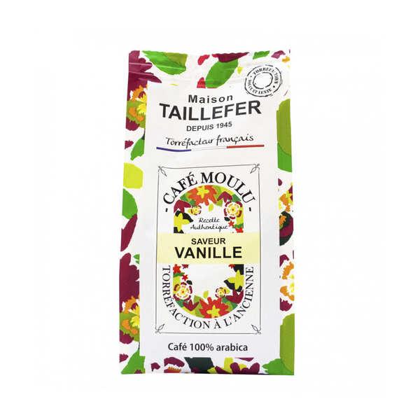 Maison Taillefer Café moka moulu saveur vanille - 3 sachets de 125g