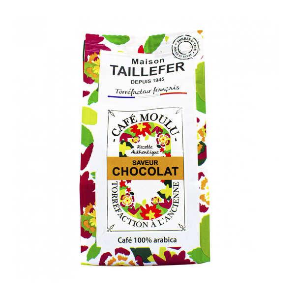 Maison Taillefer Café moka moulu saveur chocolat - Sachet 125g