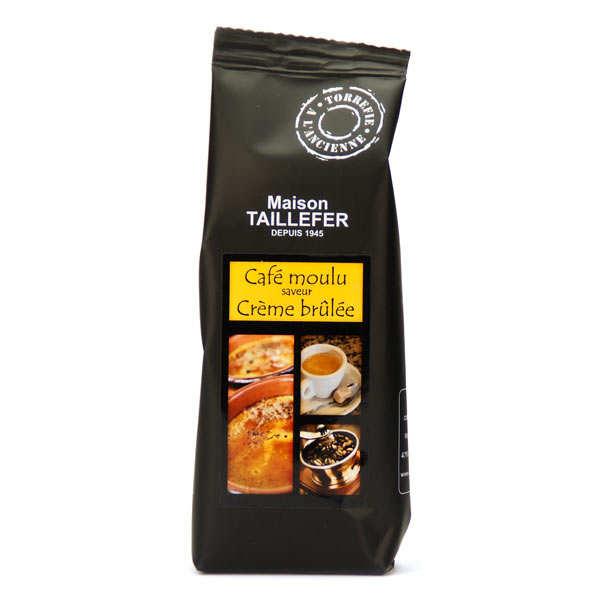 Maison Taillefer Café moka moulu saveur crème brûlée - Sachet 125g