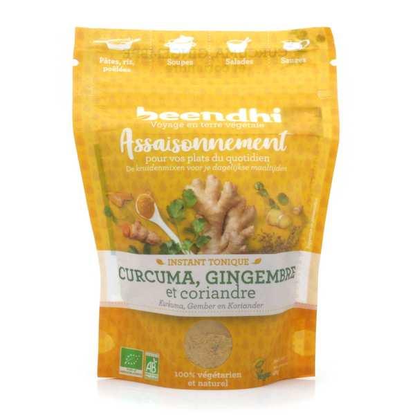 Beendhi Assaisonnement bio 'Instant tonique' - Curcuma, gingembre, coriandre - Sachet 40g