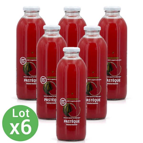 Elitegroup Pur jus de pastèque bio 6 bouteilles offre promo - Lot 5 bouteilles de 70cl + 1 offerte