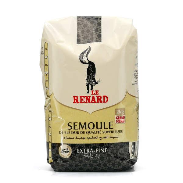Le Renard Semoule extra-fine de qualité supérieure - 3 paquets de 1kg