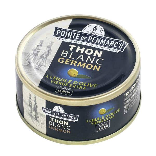 La pointe de Penmarc'h Thon blanc à l'huile d'olive vierge extra - Lot 6 boites de 80g