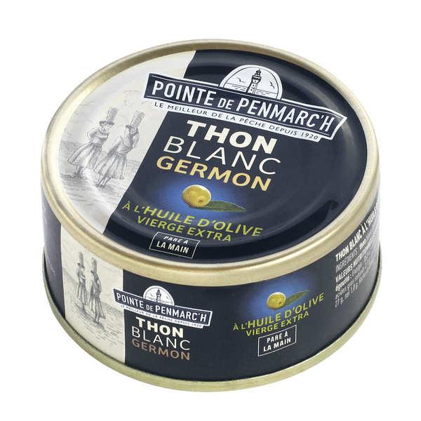 La pointe de Penmarc'h Thon blanc à l'huile d'olive vierge extra - Boîte 80g