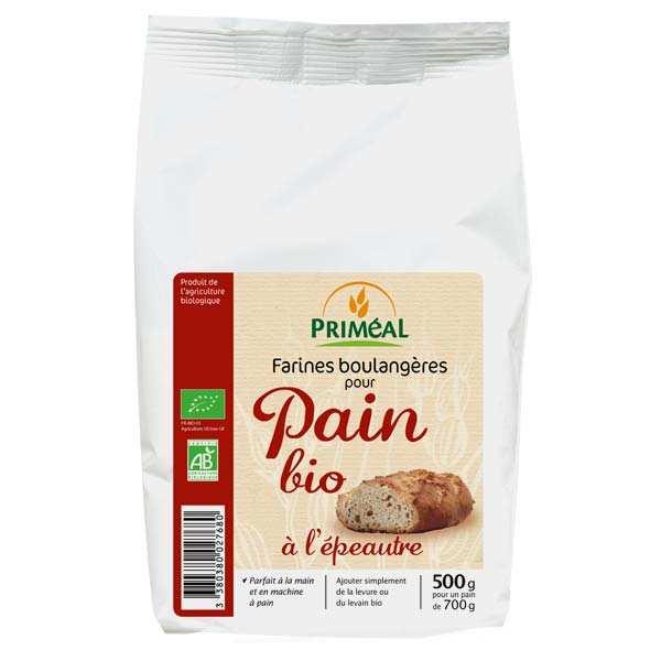 Priméal Farine boulangère pour pain bio à l'épeautre - Sachet 500g