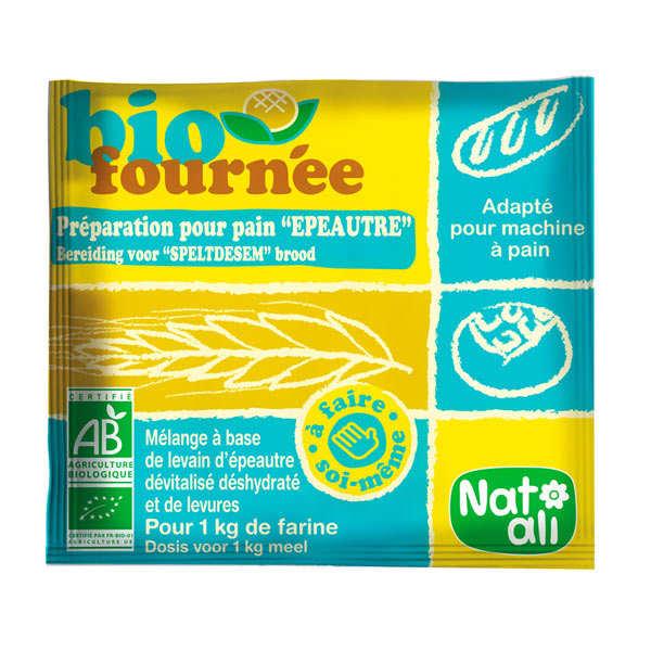 Nat-Ali Levain d'épeautre dévitalisé bio (Biofournée) - 12 sachets de 35g