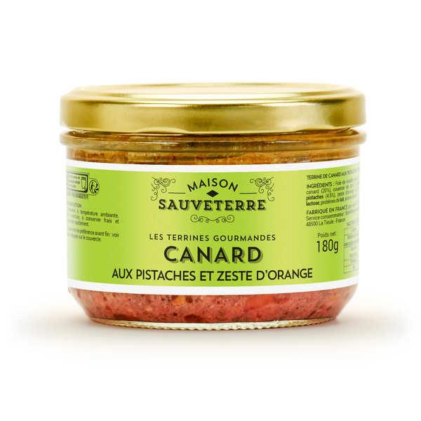 Maison Sauveterre Terrine de canard aux pistaches et zestes d'orange - 6 verrines de 90g