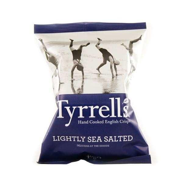 Tyrrells Chips de pommes de terre - légèrement salées au sel de mer - 3 sachets de 40g