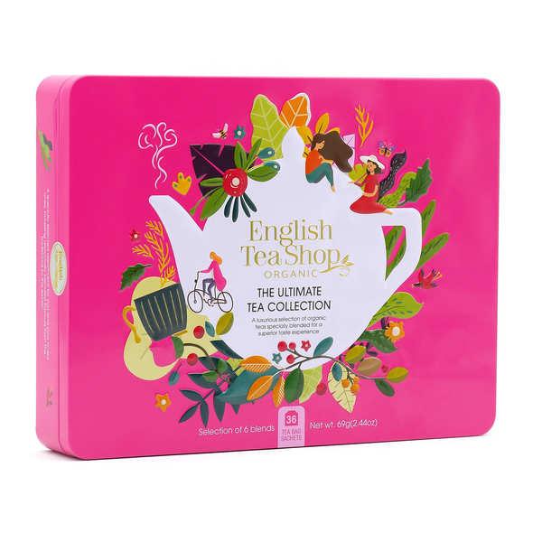English Tea Shop Coffret de thé et infusion bio premium - 36 sachets 6 parfums - Coffret 36 sachets