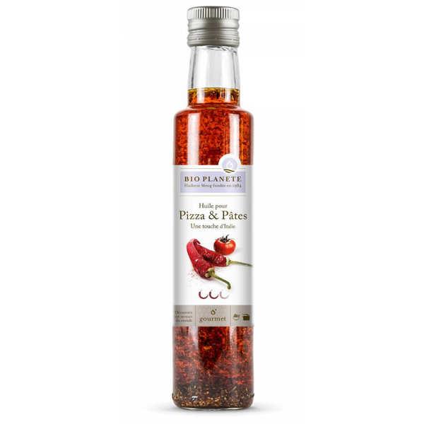 BioPlanète Huile d'olive et piment bio - 6 bouteilles de 25cl