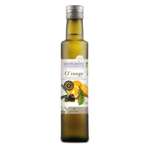 BioPlanète Huile d'olive et orange O'range bio - Bouteille 25cl