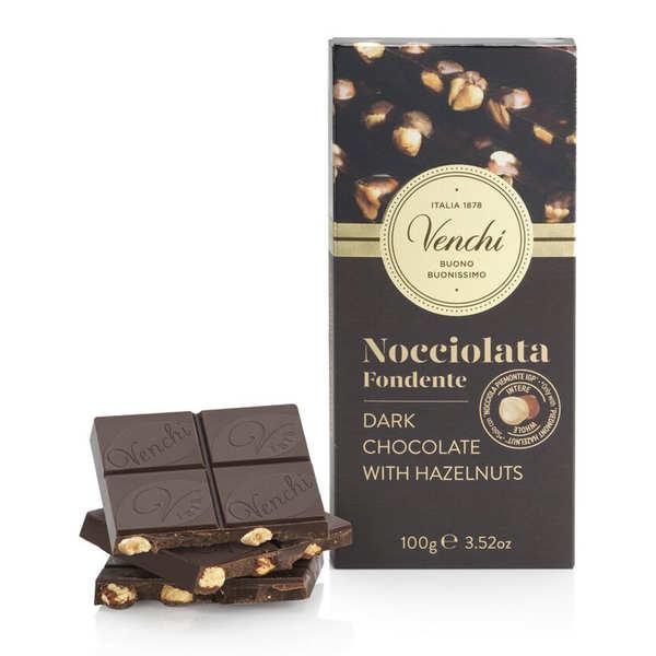 Venchi Tablette chocolat noir 56% avec noisettes - Venchi - 3 tablettes de 100g