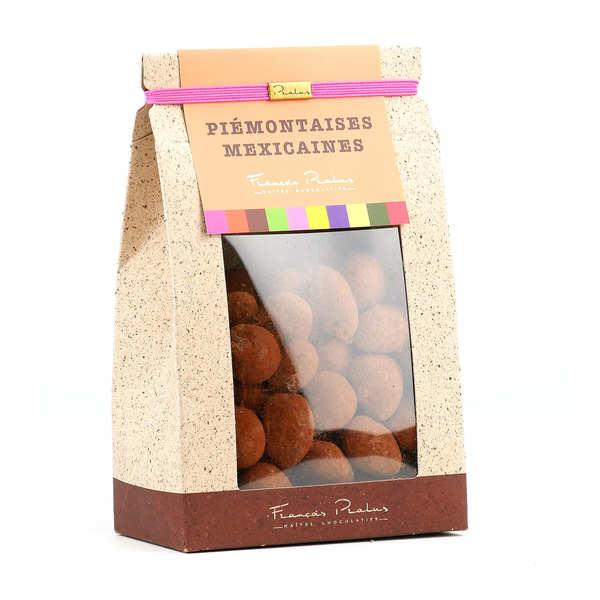 Chocolats François Pralus Noisettes et Amandes enrobées de chocolat - Piémontaises - Mexicaines Pralus - 250g
