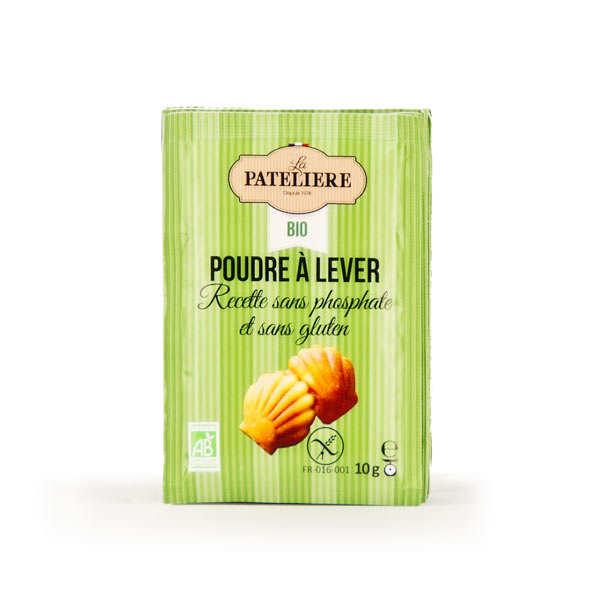 La Patelière bio Poudre à lever bio sans gluten et sans phosphate - 8 lots de 8 sachets de 10g