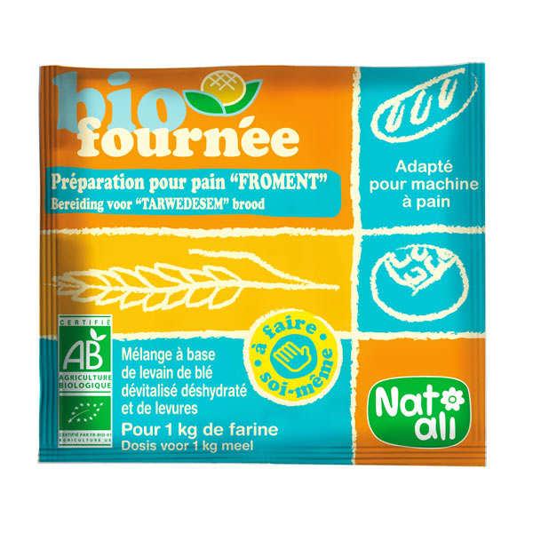 Nat-Ali Levain de froment Biofournée - préparation boulangère bio - 6 sachets de 35g
