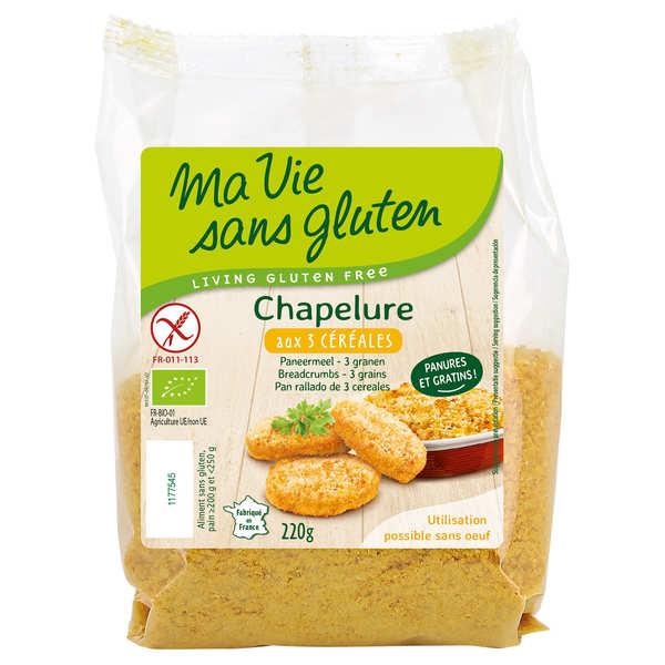 Ma vie sans gluten Chapelure bio 3 céréales sans gluten - Sachet 220g