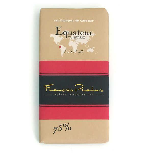 Chocolats François Pralus Tablette Equateur - Arriba 75% - Lot de 3 tablettes de 100g