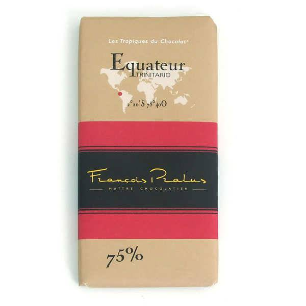 Chocolats François Pralus Tablette Equateur - Arriba 75% - Lot de 2 tablettes de 100g